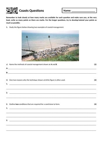 15. Coastal landscapes exam questions homework
