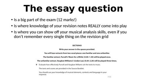 """""""The Essay Question"""" - Edexcel GCSE Music 9-1"""