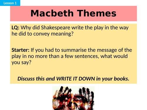 Macbeth Revision Lessons (1 week)