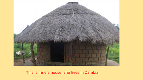Powerpoint about a child's home in Africa