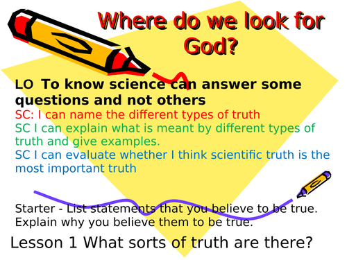 How do people come to faith? Where do we look for God? KS3 Year 7 8 or 9 Religious Studies Education