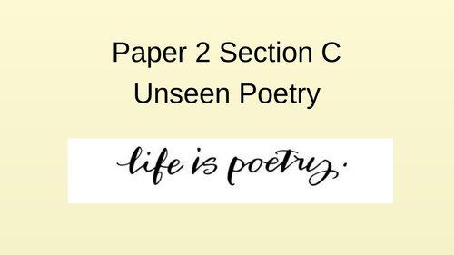 Unseen Poetry Session AQA