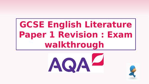AQA English Literature Paper 1 Revision - Exam walk-through