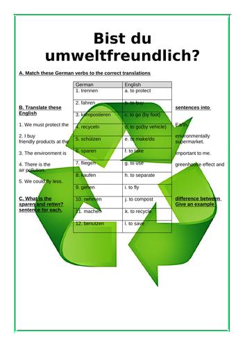 Bist Du Umweltfreundlich? WS