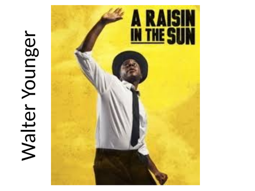 A Raisin in the Sun - character analysis Walter Younger KS5 A Level English Lang & Lit