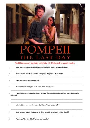 Pompeii. The last day