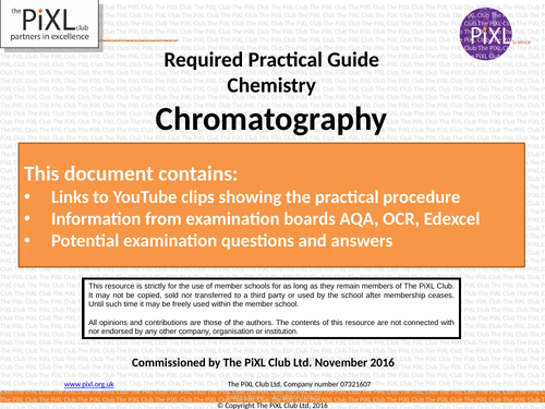 Combined Science Chemistry Core Practical Revision