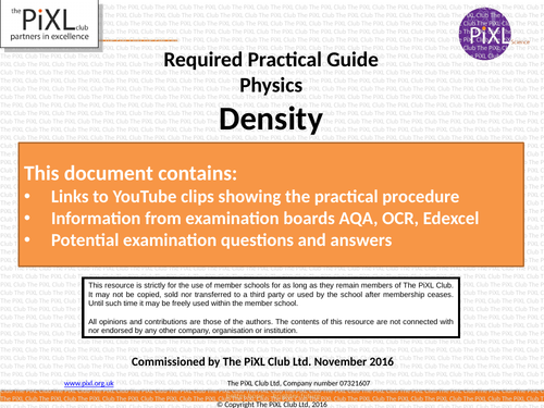 Combined Science Physics Core Practical Revision