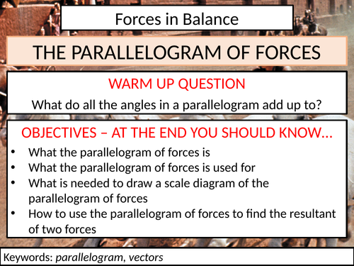 The Parallelogram of Forces