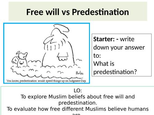 Eduqas GCSE Religious Studies Islam - Al Qadr Predestination Lesson