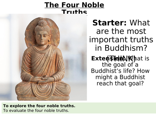 Buddhism - The Four Noble Truths Lesson Powerpoint