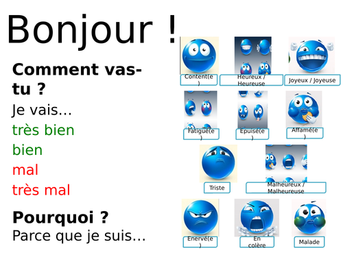 French What do you like to do according to the weather