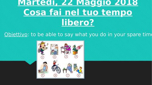 Il tempo libero ITALIAN free time KS3