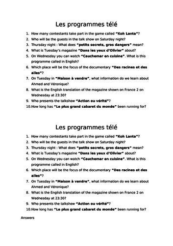 TV program - read for detail