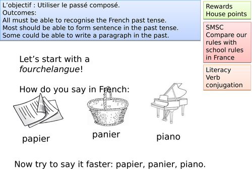 french daily routine paragraph past tense