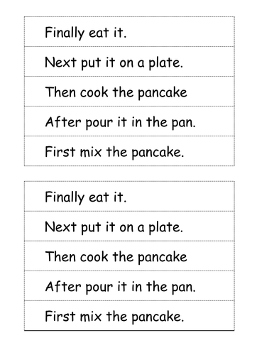 Pancake writing sequence.
