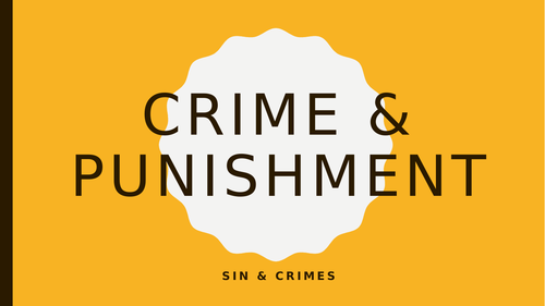Sin and Crime