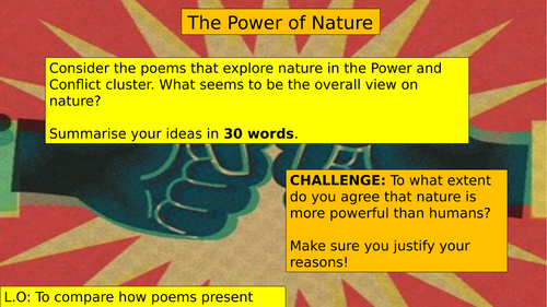 AQA POWER AND CONFLICT POETRY: POWER OF NATURE