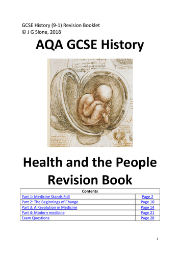 AQA GCSE History (9-1) Health and the People: Detailed Notes  / Revision Book