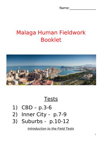 Urban Fieldwork Booklet IGCSE