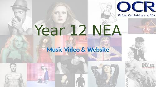 A level OCR NEA- music video and website