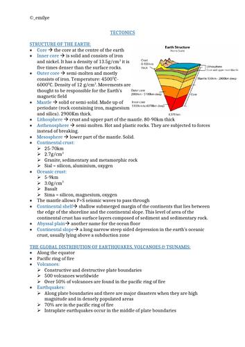 Tectonics -Edexcel Geography A-Level 9GEO