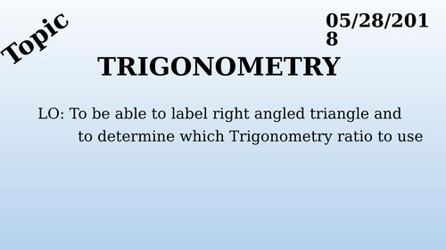 GCSE Foundation - Trigonometry Introduction (L1)