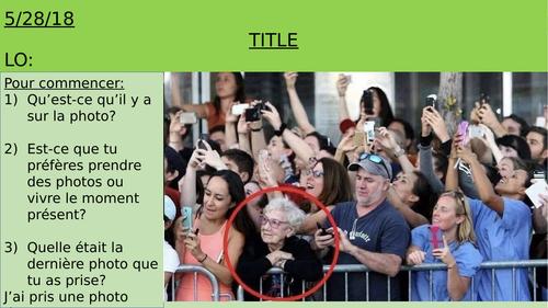 GCSE French: Photo Description Starters