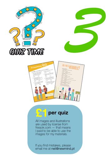 2 quizes / printables [# 3]