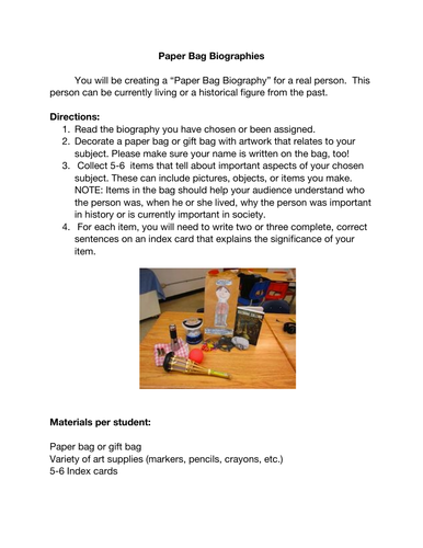 Turn a boring biography report into a fun project with this step-by-step guide.
