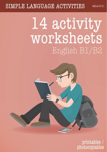 18 language worksheets (EFL, ESL)