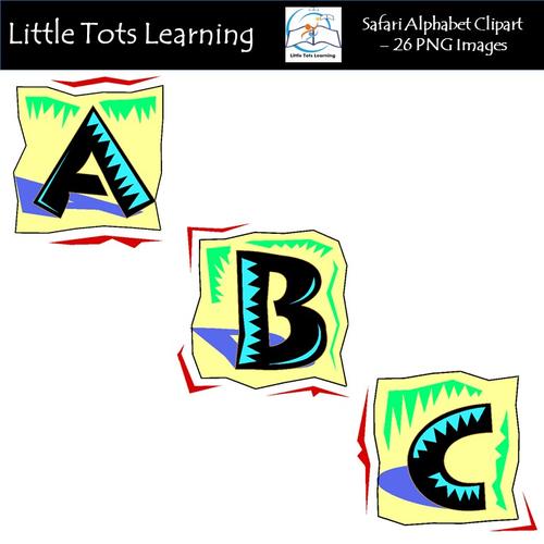 Safari Alphabet Clip Art - Alphabet Letters - Commercial Use