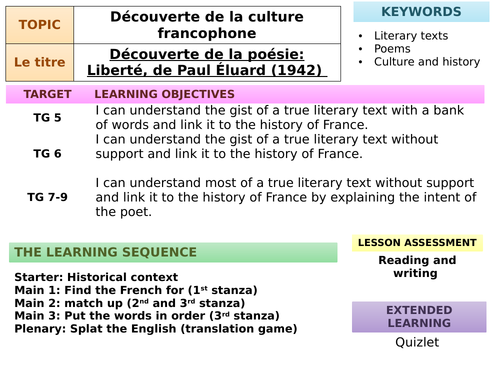 Study of Liberté by Paul Éluard