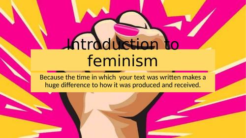 AQA Literature B NEA Coursework: Feminism