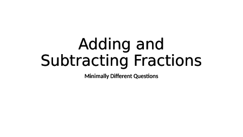 add and subtract fractions MDQ
