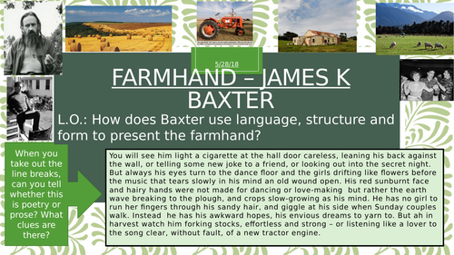 Farmhand by James K Baxter iGCSE