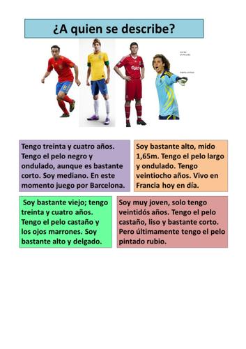 La Copa Mundial (World Cup): Los Jugadores
