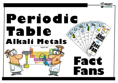 periodic table alkali metals fact fan