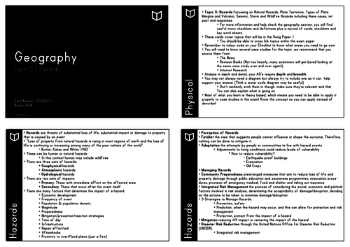 A Level Geography I Chapter 5 Hazards Revision Cards