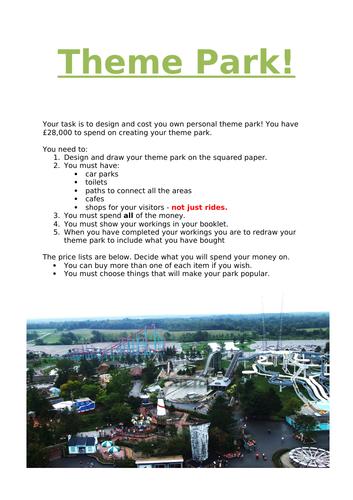 Theme park maths investigation