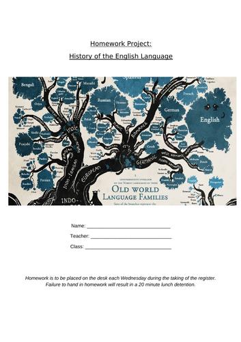 history of English Language SOW 1/2