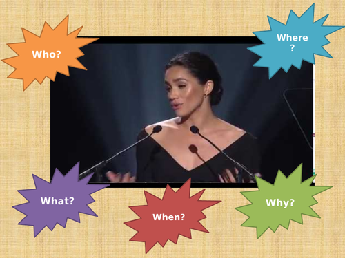 Spoken Language preparation - Meghan Markle UN speech
