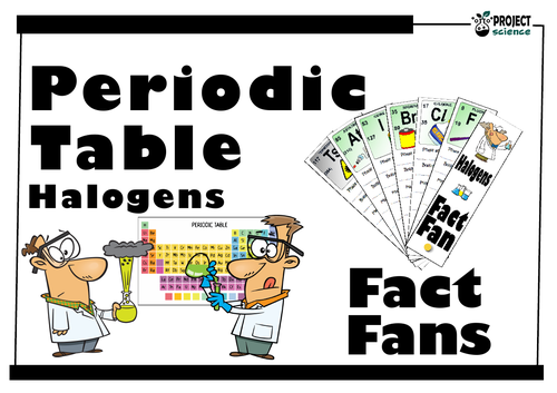 Periodic Table Halogens Fact Fan By Bunyipblues Teaching Resources