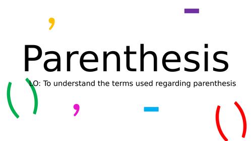 KS2: Parenthesis (brackets, commas, hyphens)