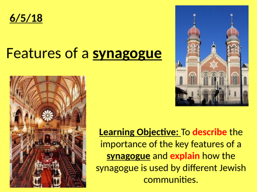 Features of a Synagogue