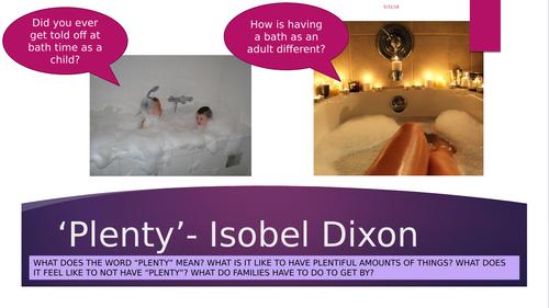 Plenty - Isobel Dobson KS4 Poem