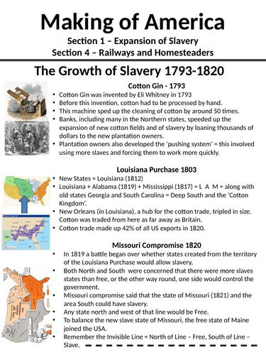 Making of America - Slavery, Railways and Homesteaders - OCR SHP 1-9