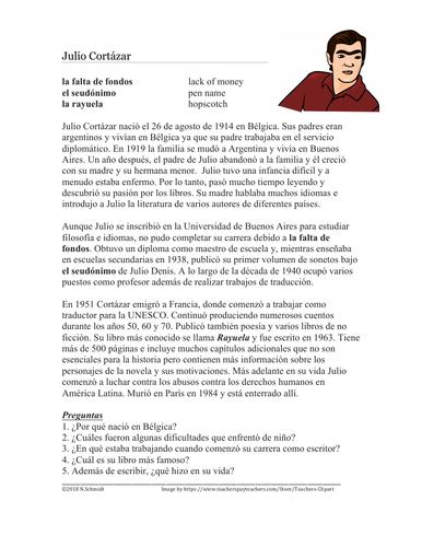 Julio Cortázar Biografía: Spanish Biography on Argentinian Writer