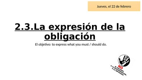 Expresión de la obligación
