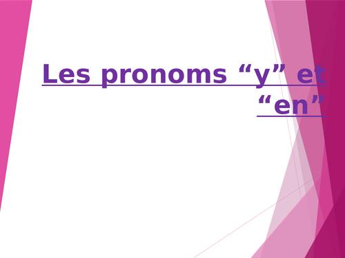 """Pronoms """"y"""" et """"en"""""""